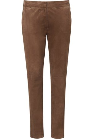 Fadenmeister Berlin Ankle-length leather trousers size: 16