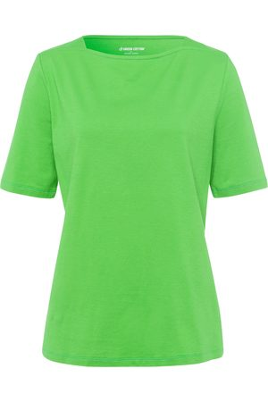 Green Cotton T-shirt in 100% cotton boat neck size: 18
