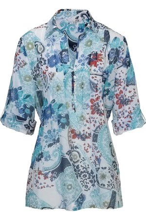 Peter Hahn Tunic in cotton and silk 3/4-length sleeves multicoloured size: 10