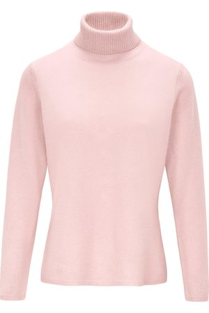 include Women Jumpers - Roll-neck jumper in pure new wool and cashmere pale size: 12