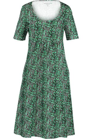 Green Cotton Dress 1/2-length sleeves size: 12