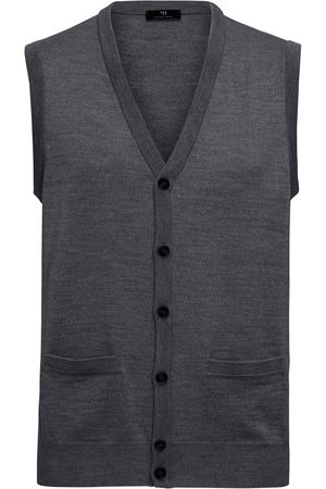 Peter Hahn Knitted waistcoat in 100% new milled wool size: 36