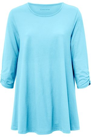 Green Cotton Long top 3/4-length sleeves turquoise size: 12