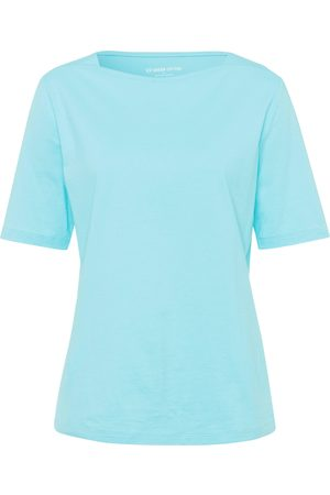 Green Cotton T-shirt in 100% cotton boat neck turquoise size: 12