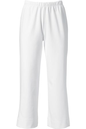 Green Cotton 7/8-length slip-on trousers size: 12