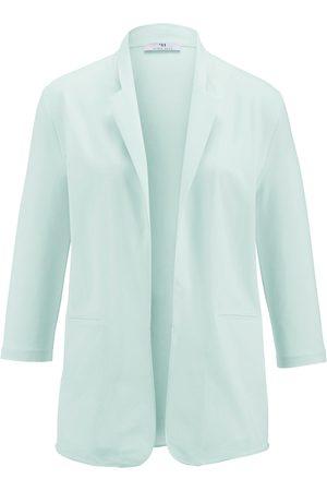 Peter Hahn Jersey blazer turquoise size: 10
