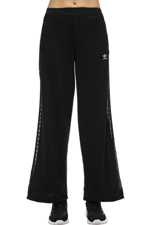 adidas Wide Leg Pants W/ Lace Side Bands