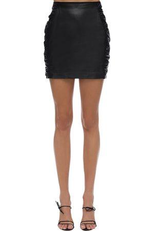 Zeynep Arcay Women Mini Skirts - Leather Mini Skirt