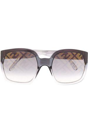 Fendi Eyewear Sunglasses - Logo print oversized sunglasses