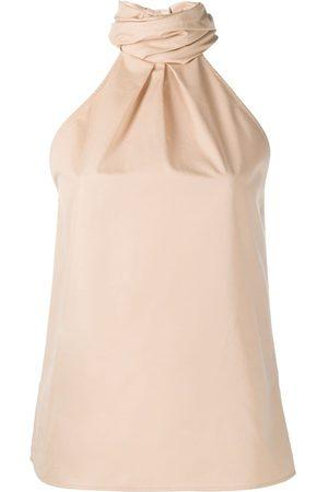 Givenchy Cotton halterneck top - Neutrals
