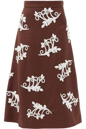 Prada Women Midi Skirts - Bead-embellished Mohair-blend Midi Skirt - Womens