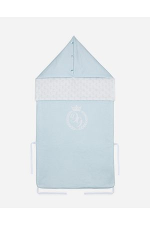 Dolce & Gabbana Accessories and Baby Carriers - JERSEY SLEEPING BAG WITH LOGO PRINT