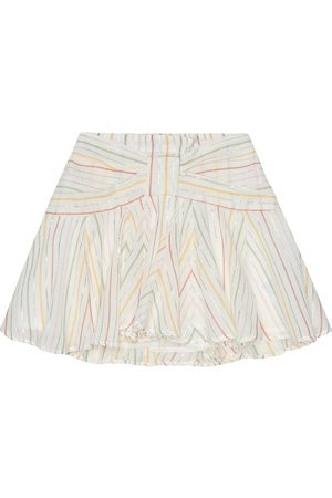 BONPOINT Noeud striped cotton skirt