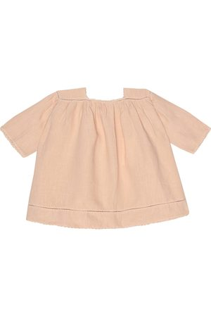 Caramel Baby Wimbledon linen dress