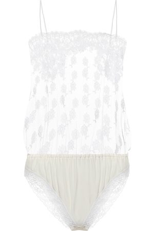 Stella McCartney Floral-lace bodysuit