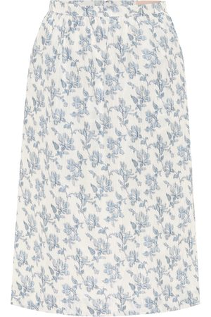 BROCK COLLECTION Quadratic cotton-blend midi skirt