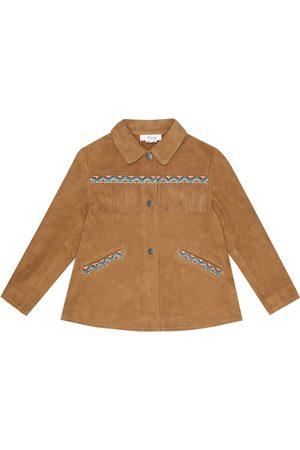 BONPOINT Cheyenne embroidered suede jacket