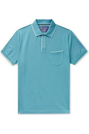 Loro Piana Contrast-tipped Stretch-cotton Piqué Polo Shirt
