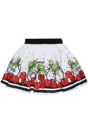 MONNALISA Printed cotton miniskirt