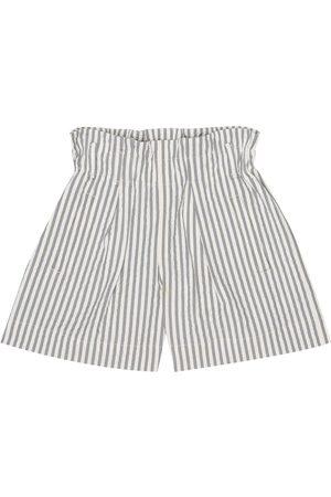Brunello Cucinelli Striped stretch-seersucker shorts
