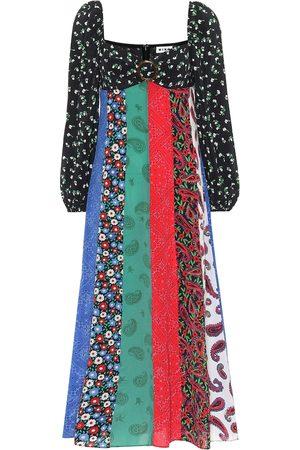 RIXO London Ivy printed silk dress