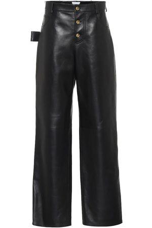Bottega Veneta High-rise leather pants