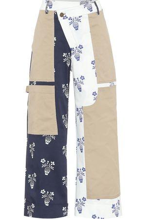 MONSE Patchwork high-rise cotton pants