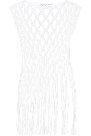 OFF-WHITE Cotton-blend macramé top