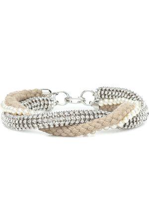 Miu Miu Crystal-embellished rope choker