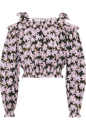 ALEXANDRA MIRO Gypsy printed cotton crop top