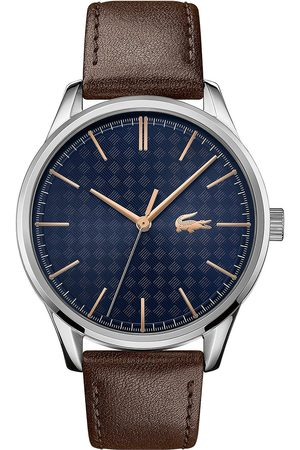 Lacoste Vienna Brown Leather Strap Blue Dial Mens Watch