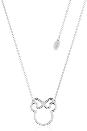 Disney Dinsey Sterling Minnie Mouse Outline Neckalce
