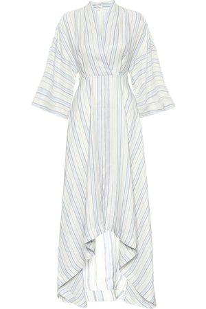 CO Striped asymmetric maxi dress