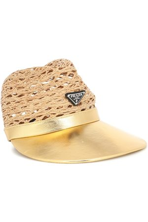 Prada Raffia and leather cap