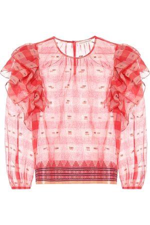 ULLA JOHNSON Caasi checked cotton blouse