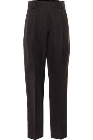 Paco rabanne High-rise slim wool pants
