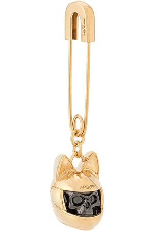 AMBUSH Earrings - Cat-helmet charm single earring
