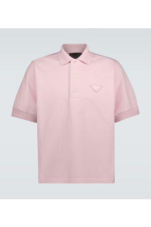 Prada Jersey polo with tonal logo
