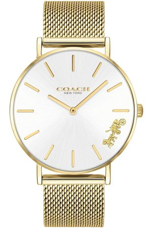 Coach Perry Gold Stainless Steel Mesh Strap Ladies Watch