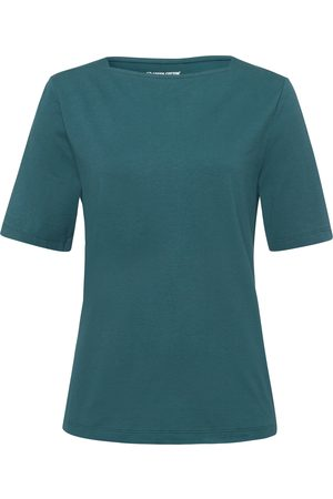 Green Cotton T-shirt in 100% cotton boat neck size: 12
