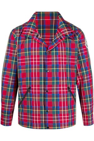 Moncler Men Jackets - Tartan-print windbreaker jacket