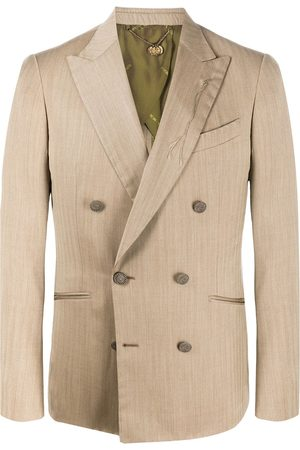 MAURIZIO MIRI Double-breasted fitted blazer - Neutrals