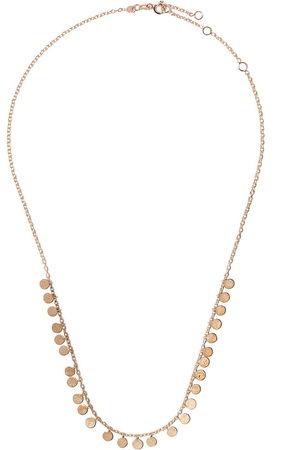 Milka 14kt rose dangle disc necklaces