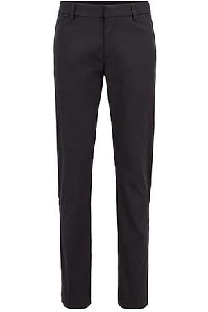 HUGO BOSS Slim-fit trousers in a cotton blend with taped pockets