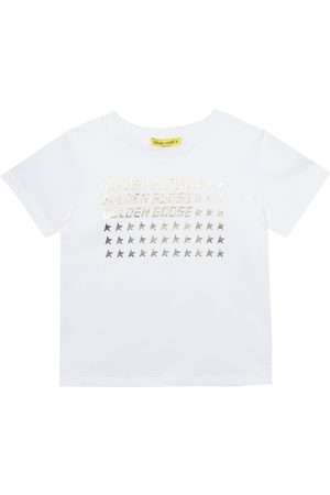 Golden Goose Girls T-shirts - Logo cotton T-shirt