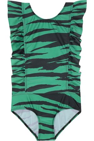 Mini Rodini Tiger-print swimsuit