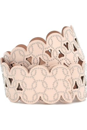 Alaïa Embellished laser-cut leather belt
