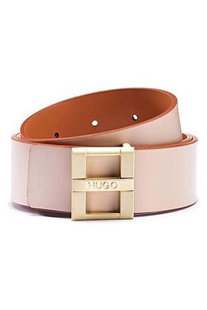 HUGO BOSS Smooth-leather belt with branded pin closure