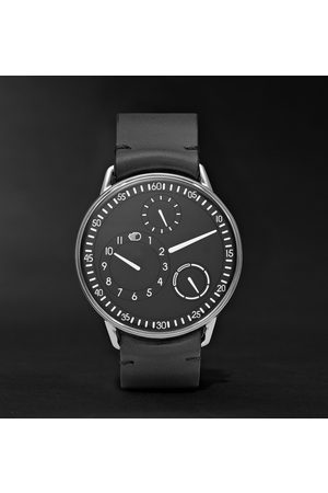Ressence Men Watches - Type 1 Mechanical 42mm Titanium And Leather Watch, Ref. No. Type 1b