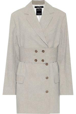 Rokh Cotton belted blazer